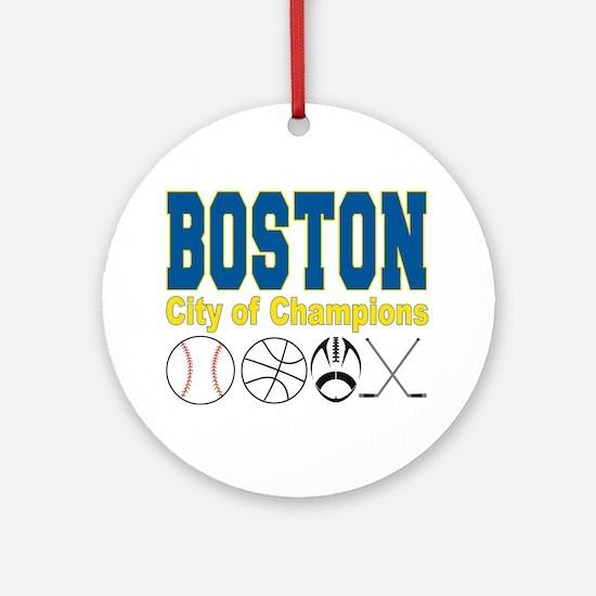 Boston City of Champions Ornament (Round)