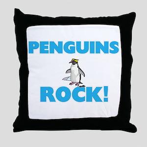 Penguins rock! Throw Pillow