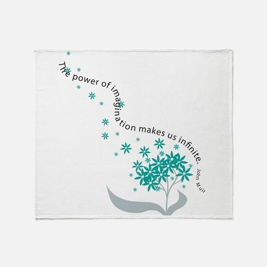 Imagination Quote Throw Blanket