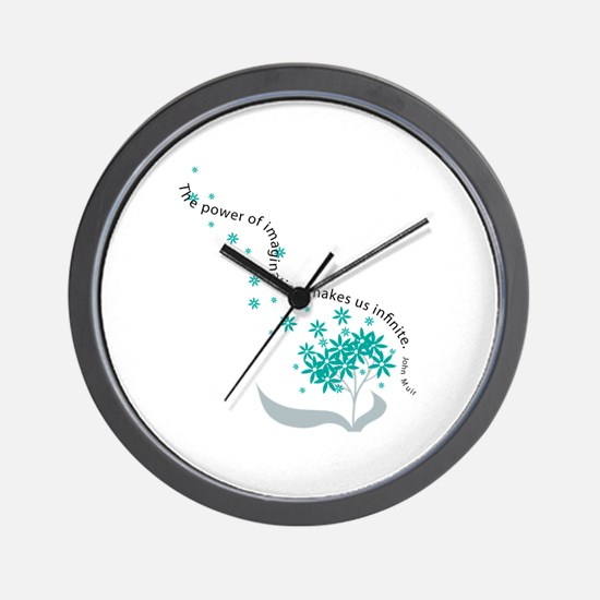 Imagination Quote Wall Clock