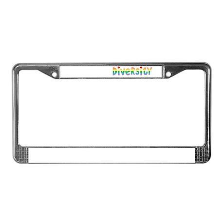 Peace Love Diversity License Plate Frame