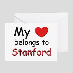 My heart belongs to stanford Greeting Cards (Packa