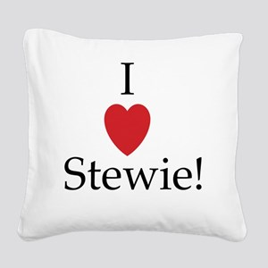 I heart stewie Square Canvas Pillow