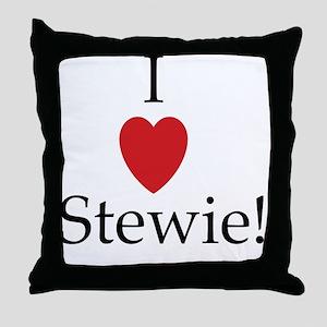 I heart stewie Throw Pillow