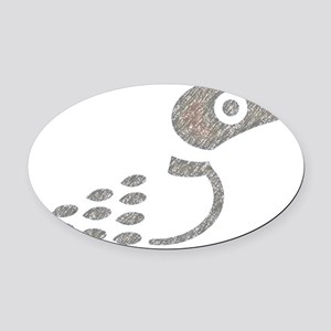 LoonONLY Oval Car Magnet