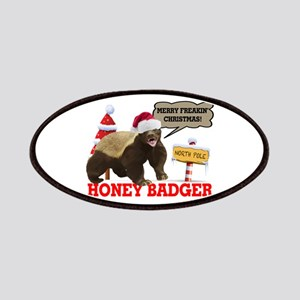 Honey Badger Merry Freakin' Christmas Patches