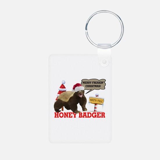 Honey Badger Merry Freakin' Christmas Keychains