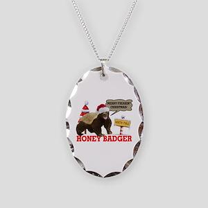 Honey Badger Merry Freakin' Christmas Necklace Ova