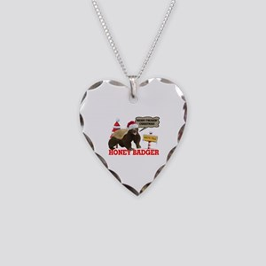 Honey Badger Merry Freakin' Christmas Necklace Hea