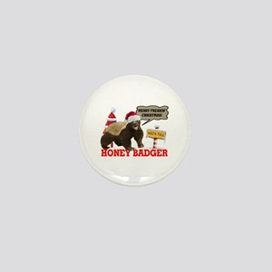 Honey Badger Merry Freakin' Christmas Mini Button