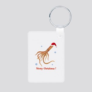 Personalized Christmas Squid Aluminum Photo Keycha