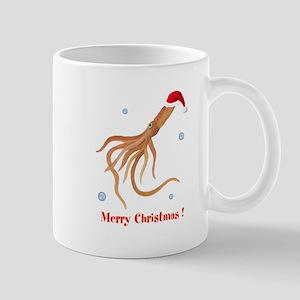 Personalized Christmas Squid Mug