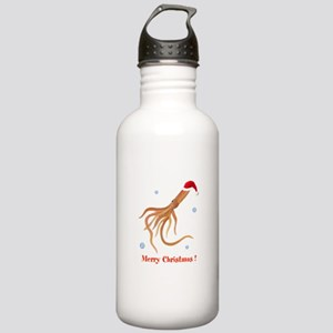 Personalized Christmas Squid Stainless Water Bottl