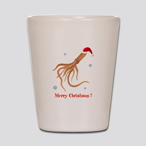 Personalized Christmas Squid Shot Glass