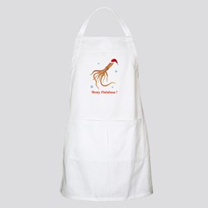 Personalized Christmas Squid Apron