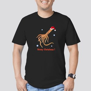Personalized Christmas Squid Men's Fitted T-Shirt