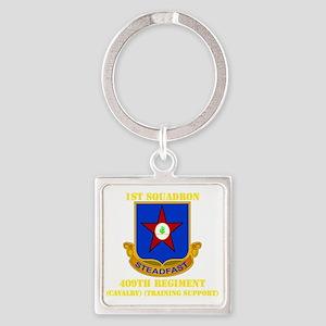 DUI - 1st Battalion - 409th Regime Square Keychain