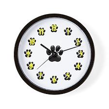 Paw design Wall Clock