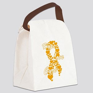 Peace Love Cure Yudu Orange Canvas Lunch Bag