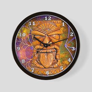 Tiki God Wall Clock
