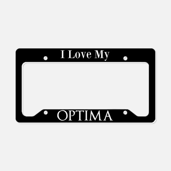 I Love My Optima License Plate Holder