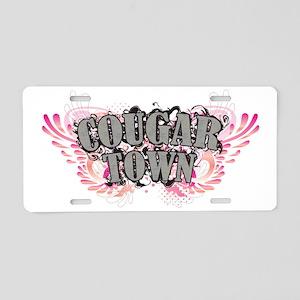 Cougar Town Blk Aluminum License Plate