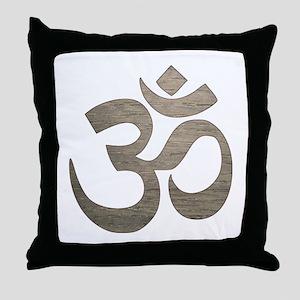 Namaste Symbol Throw Pillow