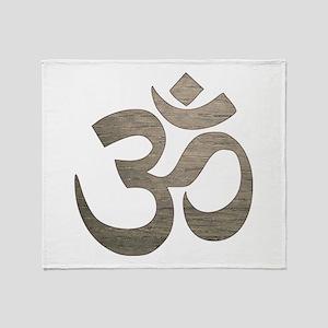 Namaste Symbol Throw Blanket