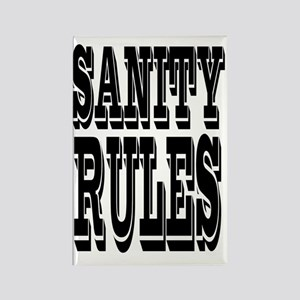 SANITYrules Rectangle Magnet