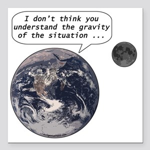"""gravityofsituation Square Car Magnet 3"""" x 3"""""""