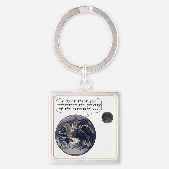 gravityofsituation Square Keychain