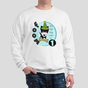 Dog Lover 1st Birthday Sweatshirt