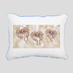 Ghost Crabs Obx Rectangular Canvas Pillow