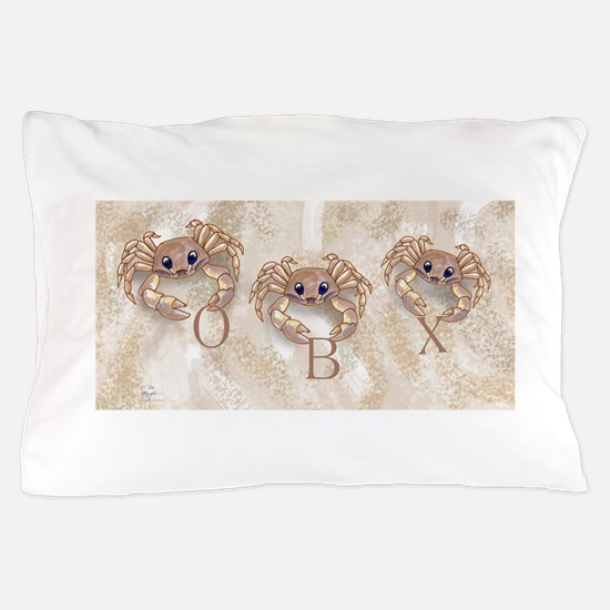 ghost crabs obx Pillow Case