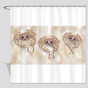 ghost crabs obx Shower Curtain