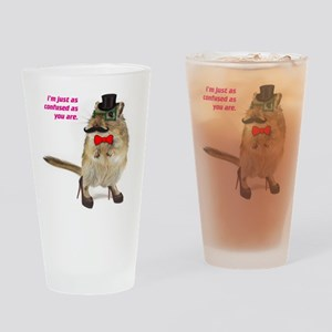funny hampster Drinking Glass