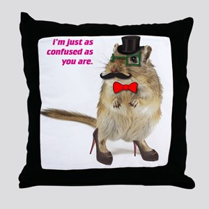 funny hampster Throw Pillow