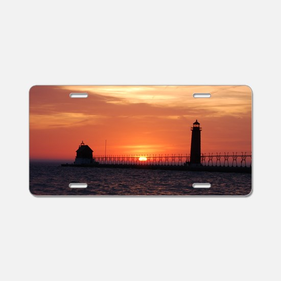 0001-Lighthouse (100) Aluminum License Plate