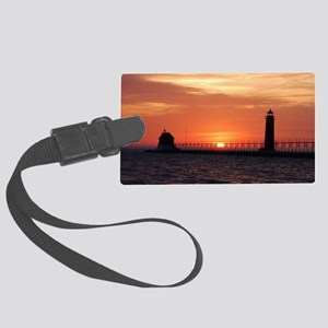 0001-Lighthouse (100) Large Luggage Tag