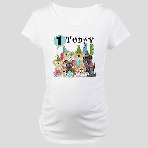 Dogs 1st Birthday Maternity T-Shirt