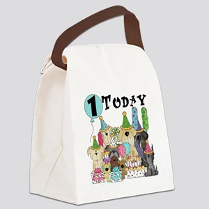 Dogs 1st Birthday Canvas Lunch Bag