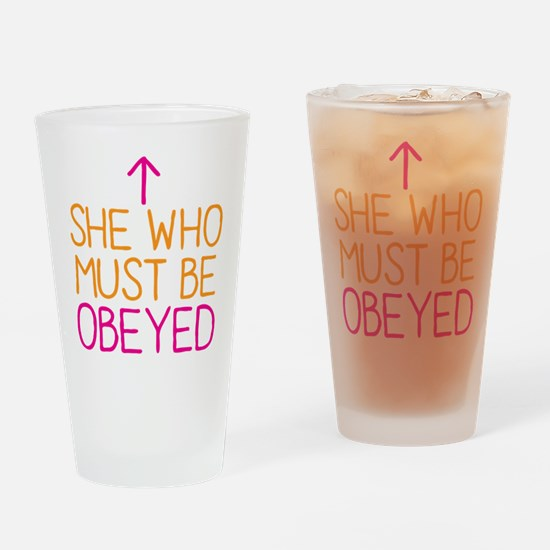 She who must be obeyed Drinking Glass