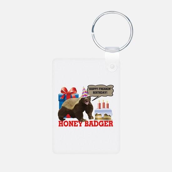 Honey Badger Happy Freakin' Birthday Keychains