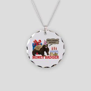 Honey Badger Happy Freakin' Birthday Necklace Circ