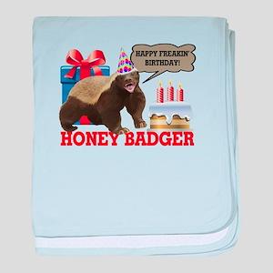 Honey Badger Happy Freakin' Birthday baby blanket