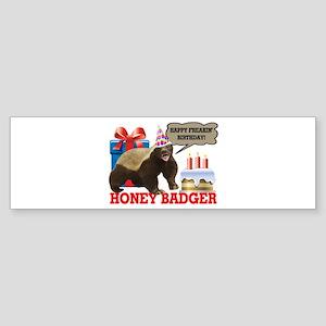 Honey Badger Happy Freakin' Birthday Sticker (Bump