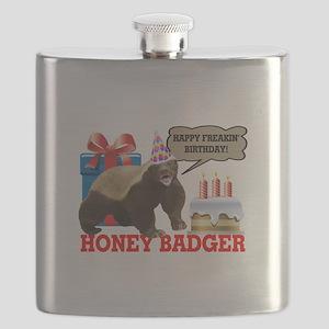Honey Badger Happy Freakin' Birthday Flask