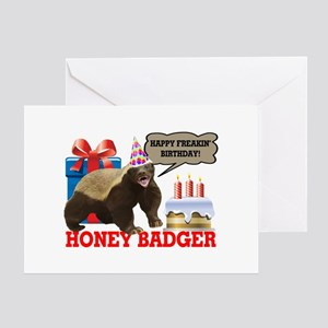 Honey Badger Happy Freakin' Birthday Greeting Card