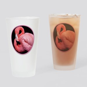 yule flamingo Drinking Glass