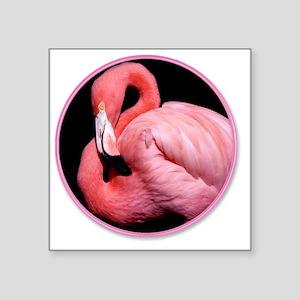 """yule flamingo Square Sticker 3"""" x 3"""""""